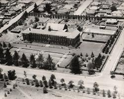 Aerial view of the school 1929